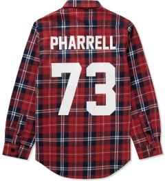 LES (ART)ISTS Red Pharrell 73 Flannel Shirt Picutre