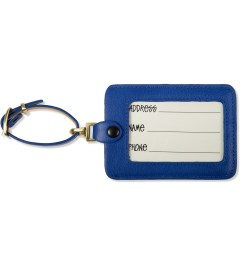 Stussy Blue Travel Name Tag Model Picutre