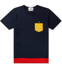Aloye Aloye x WONG WONG Navy Blue/Red Spain Color Blocked S/S T-Shirt Picutre