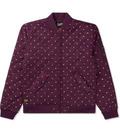 Primitive Burgundy Dots Bomber Jacket Picutre