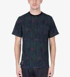 The Hundreds Black Focus Pocket T-Shirt Model Picutre