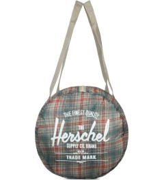 Herschel Supply Co. Grey Plaid Packable Duffle Bag Model Picutre