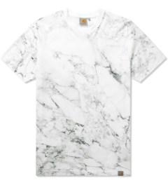 Carhartt WORK IN PROGRESS White S/S Marble T-Shirt Picutre