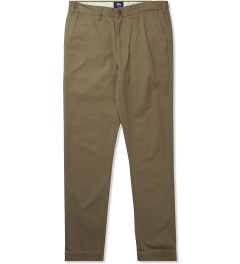 Stussy Khaki Light Washed Chino Pant Picutre
