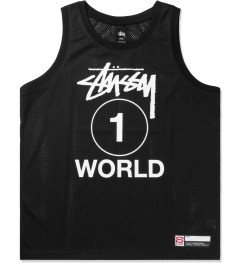 Stussy Black One World Mesh Tank Top Picutre