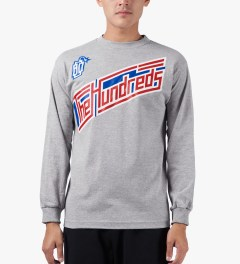 The Hundreds Athletic Heather Motion L/S T-Shirt Model Picutre