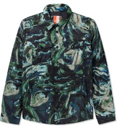 MSGM Navy/Green Giubbino Shirt Jacket Picutre