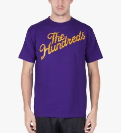 The Hundreds Purple Giraffe Slant T-Shirt Model Picutre
