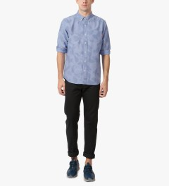Acapulco Gold Blue Camo Oxford L/S Button Down Shirt Model Picutre