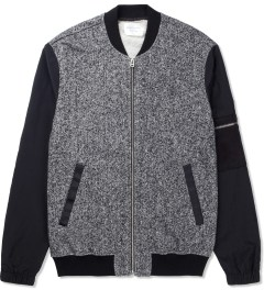 Shades of Grey by Micah Cohen Blackboard/Black Fleece & Nylon Baseball Jacket Picutre