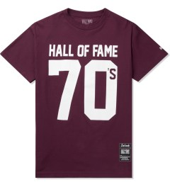 Hall of Fame Burgundy 70's T-Shirt Picutre
