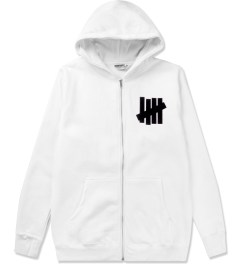 Undefeated White 5 Strike Basic Zip Hoodie Picutre