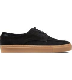 E.R SOULIERS DE SKATE Black Croco/Black Suede Shoes Picutre