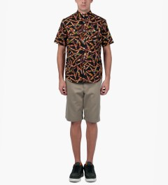 FTC Cigar All Over S/S Woven Shirt Model Picutre