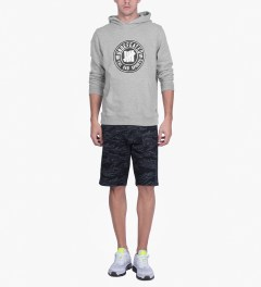 Undefeated Heather Grey BS Hoodie Model Picutre