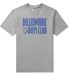 Billionaire Boys Club Heather Grey/Twilight Purple S/S Straight Logo T-Shirt Picutre
