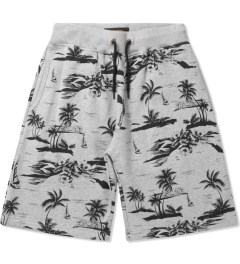 10.Deep Heather Grey Black Sand Sweatshorts Picutre