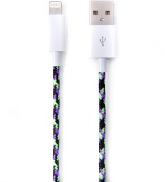 Eastern Collective Black/Purple/Green Zombie Lightning iPhone 5/5S Collective Cable Picutre