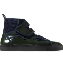 Raf Simons Dark Green High Velcro Sneakers Picutre