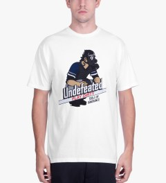 Undefeated White Catcher T-Shirt Model Picutre
