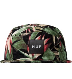 HUF Black Waikiki Box Logo Volley Cap Picutre