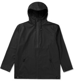 RAINS Black Breaker Jacket Picutre