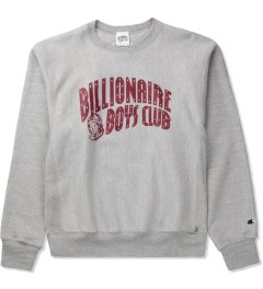 Billionaire Boys Club Heather Grey Billionaire Boys Club x Champion S/S Classic Arch Logo Sweater Picutre