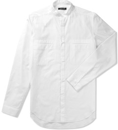 Damir Doma Optic White SABLE Stand Up Collar Shirt Picutre