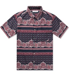 Head Porter Plus Navy Paisley S/S Shirt Picutre
