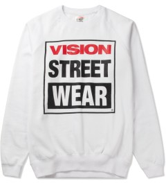 VISION STREET WEAR White Logo Fleece Sweater Picutre