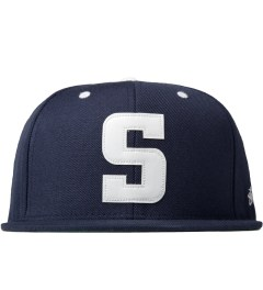 Stussy Navy Leather S Cap Picutre