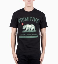 Primitive Black Cultivated Vintage T-Shirt Model Picutre
