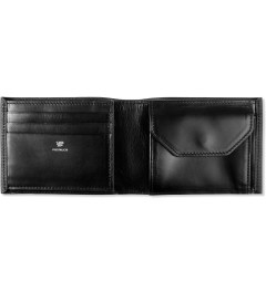 POSTALCO Black Small C.G Leather Billfold Wallet with Coin Pocket Model Picutre