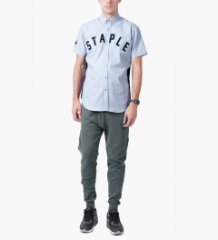 Staple Navy Staple ARC Woven Shirt Model Picutre