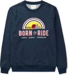 BWGH Navy Born To Ride Sweater Picutre