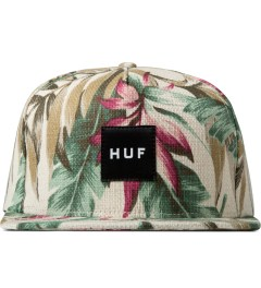 HUF Tan Waikiki Box Logo Snapback Cap Picutre