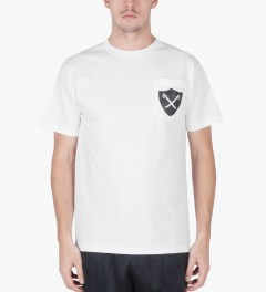 The Hundreds White Slater Pocket T-Shirt Model Picutre