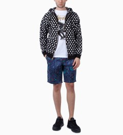 Stussy Black Scratch Dot Zip Hoodie Model Picutre