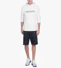 Undefeated White Block Basic Hoodie Model Picutre