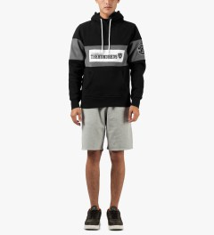The Hundreds Black Base Pullover Hooded Sweater Model Picutre