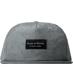 Raised by Wolves Silver Reflective Digital Camo Richmond Snapback Cap Picutre