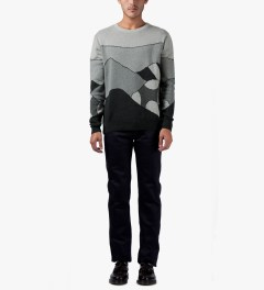 Rockwell by Parra Jacquard Grey Hills Knitted Pullover Sweater Model Picutre