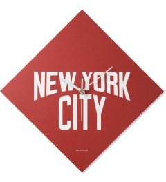 SECOND LAB Red NYC Print Clock Picutre