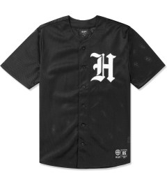 HUF Black Old English Baseball Jersey Picutre