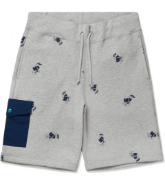Acapulco Gold Heather Grey Angry Lo Bear Sweatshorts Picutre