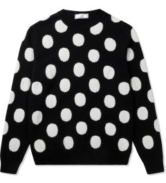 ami Black/White Round Neck Dotted Sweater Picutre