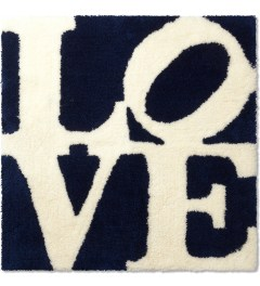 SECOND LAB Navy/White Love Rug Picutre