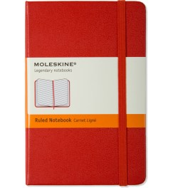 MOLESKINE Red Plain Pocket Size Notebook Picutre