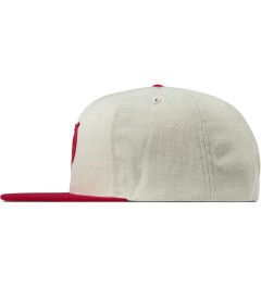 Primitive Heather/Burgundy Classic P Robble Snapback Cap Model Picutre