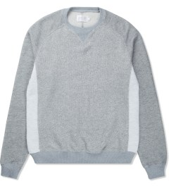 Shades of Grey by Micah Cohen Light Heather Gray Contrast Panel Sweater Picutre